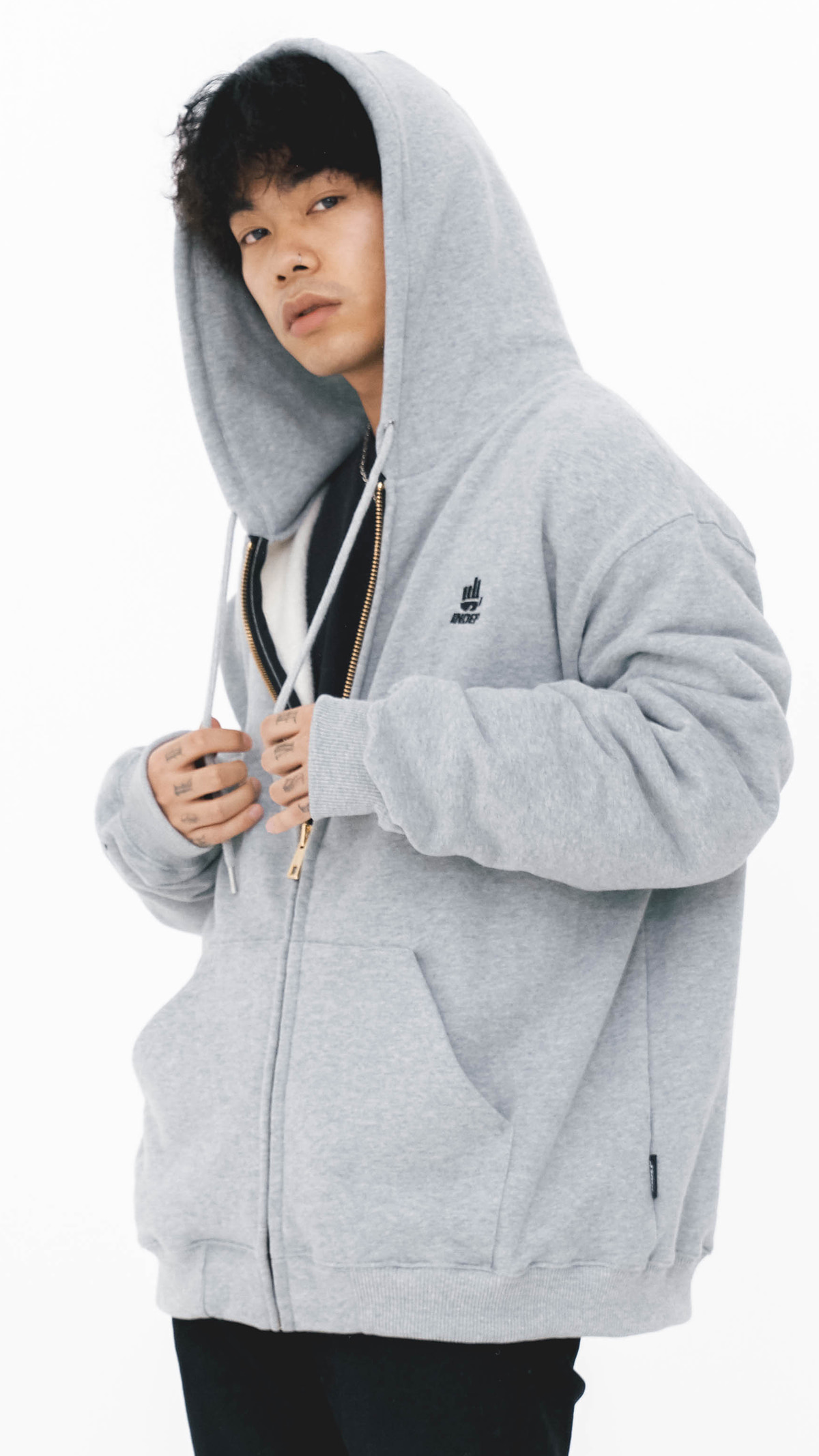 Indep Symbol Hooded Zip_GR