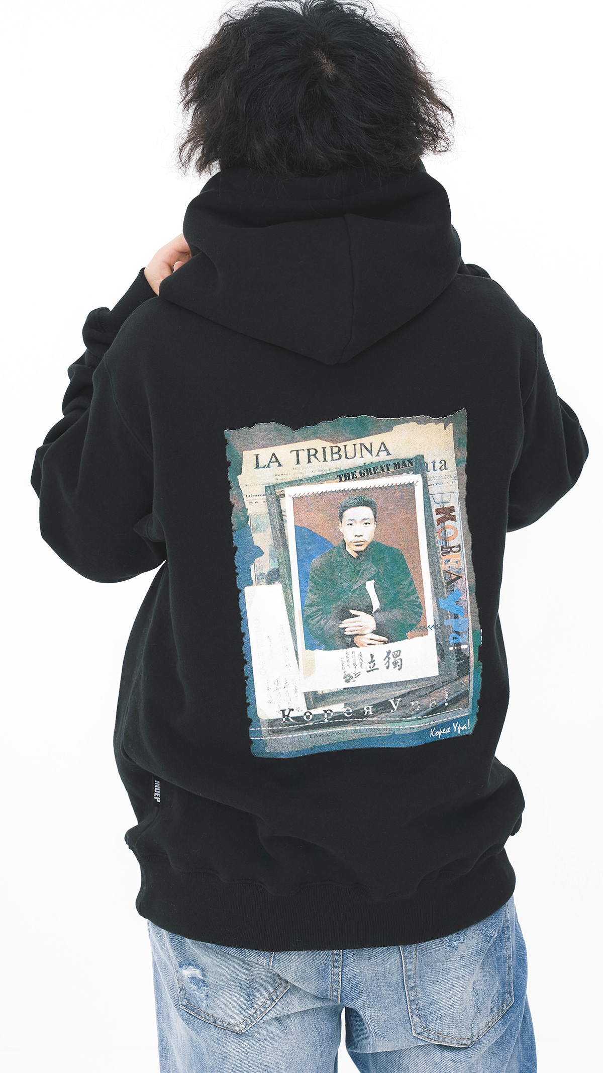 The Greatman Hooded Sweatshirt_BK