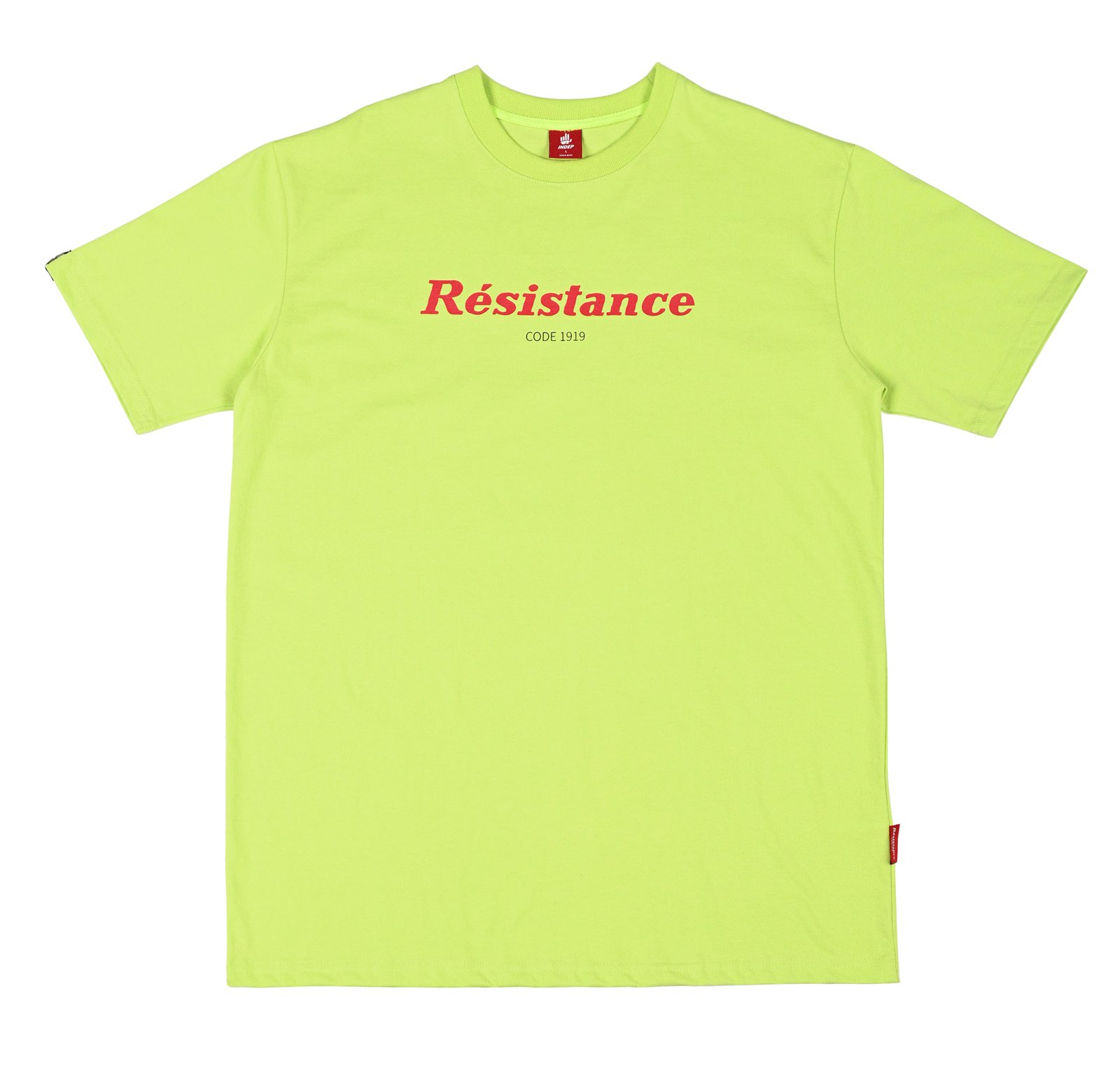"Indep ""Resistance"" Lime T-shirt"